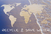 Recyklovat  uložit vodu ilustrace
