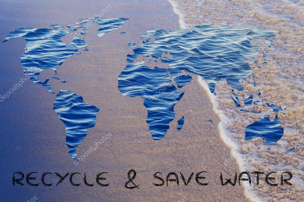 Recycle & save water illustration