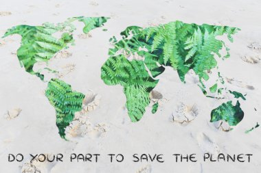 conceot of protect the environment from desertification