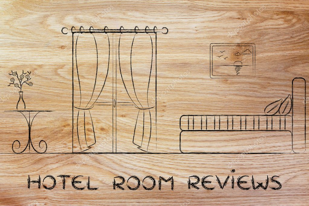 Hotel reviews, design of room interior — Stock Photo