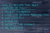 motivační seznam řešení pro štěstí