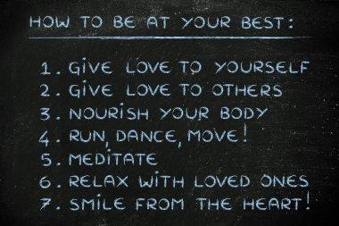 motivational list illustration