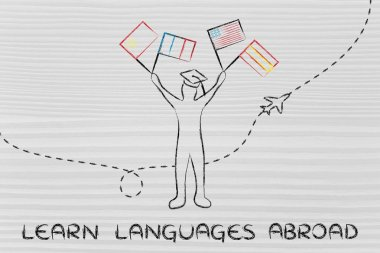 concept of learning languages abroad