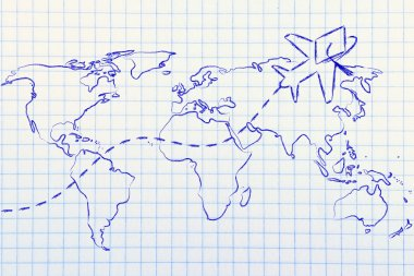 concept of studying abroad