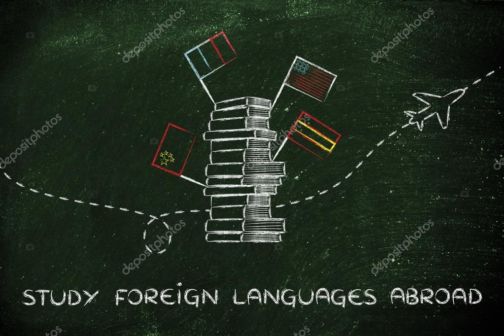 concept of studying foreign languages