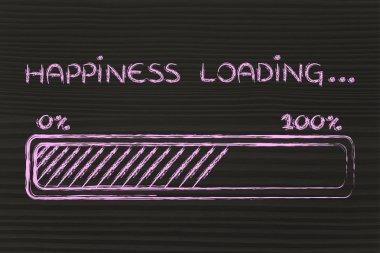 happiness loading, progress bar illustration