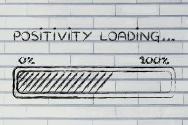 positivity loading, progress bar illustration