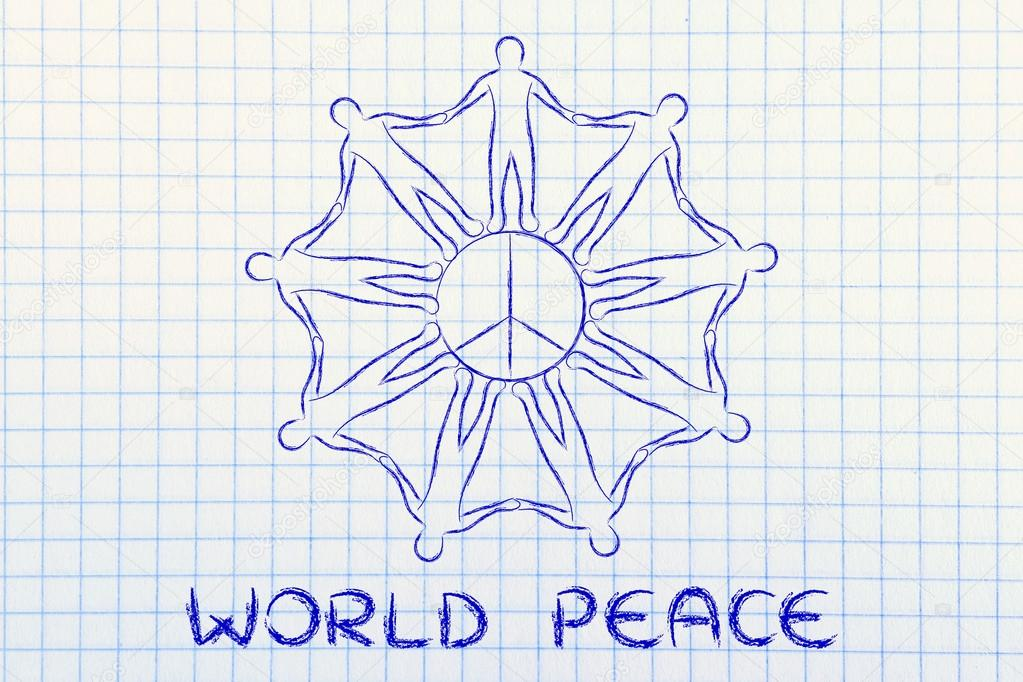 People Holding Hands For World Peace Stock Photo Faithie 86245744