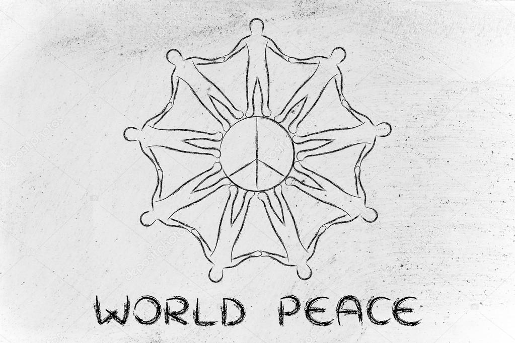 People Holding Hands For World Peace Stock Photo Faithie 86246262