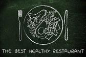 koncept nejlépe zdravá restaurace