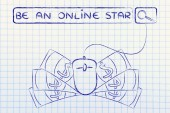 concept of be an online star
