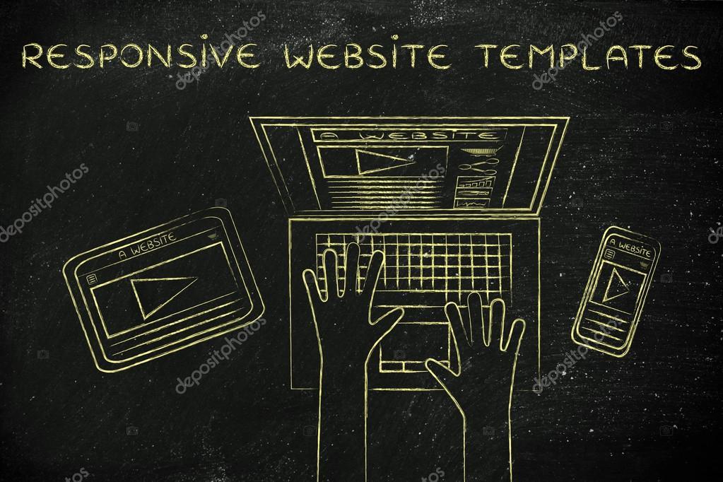 conceito de responsivo website templates stock photo faithie