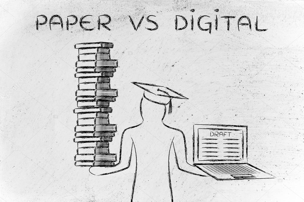 Image result for paper vs digital