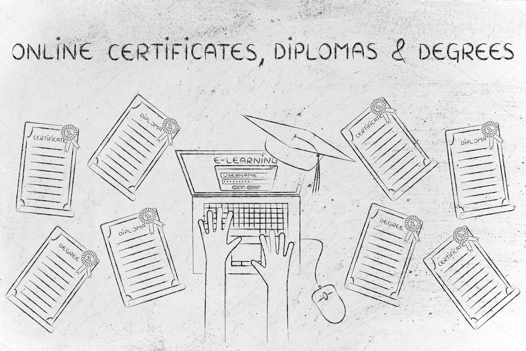 Concept Of Online Certificates Stock Photo Faithie 99943926