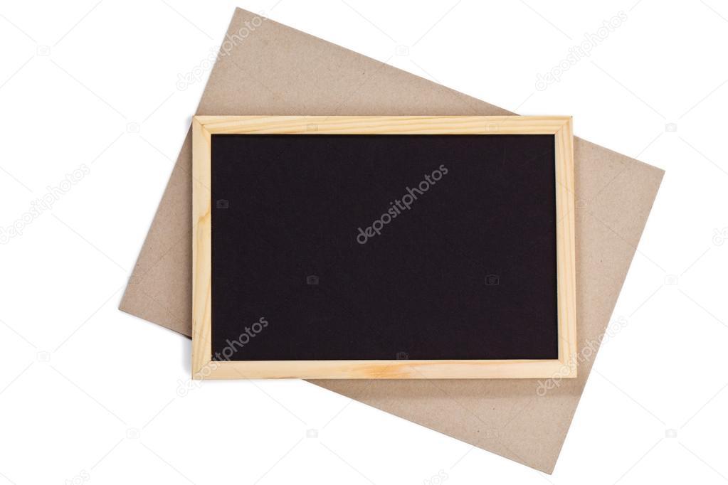 marco de fotos madera horizontal con papel negro de campo y naves de ...