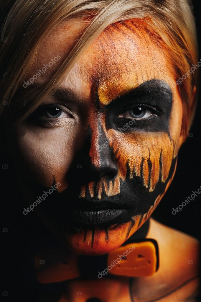 Halloween Portr 228 T Des K 246 Rper Kunst K 252 Rbis M 228 Dchen Mit