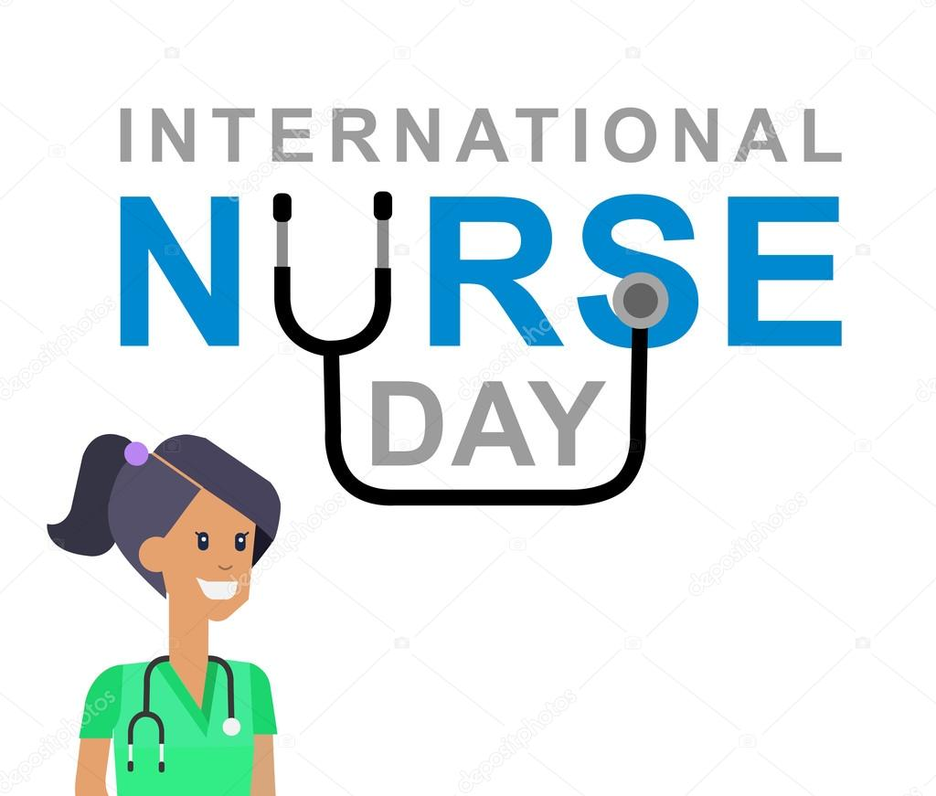 Vektor-Illustration für internationaler Krankenschwester-Tag ...