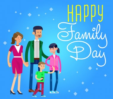 illustration of International day Families concept