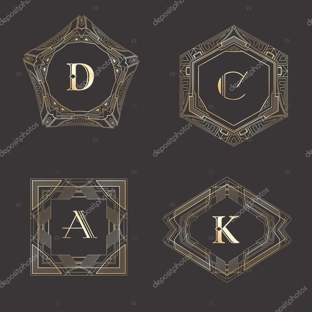 Monogram logo template