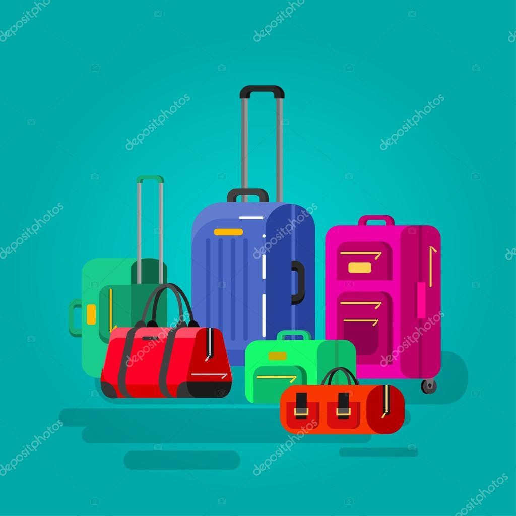 be4794a331 Είδη ταξιδίου. Αποσκευών βαλίτσα — Διανυσματικό Αρχείο © Merfin ...