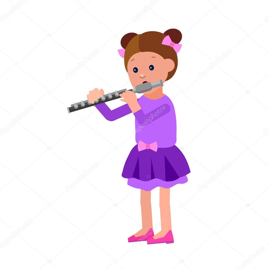 Happy kid playing on contrabass, singing dancing ballet  — Stock