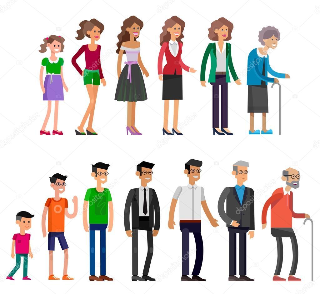 возрастах рисунки человек в разных