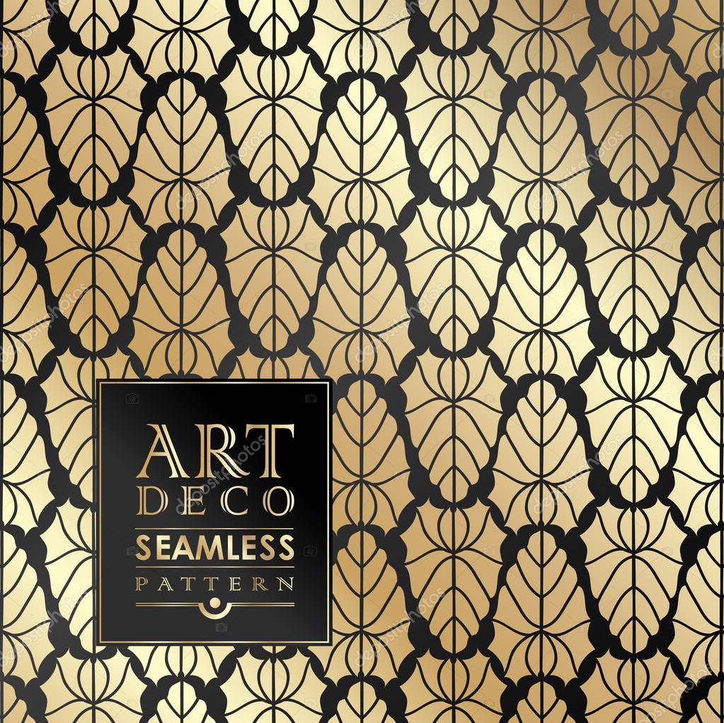 Mod Le Sans Couture Papier Peint Art Deco Image Vectorielle 78809248