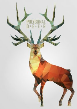 Abstract polygonal deer