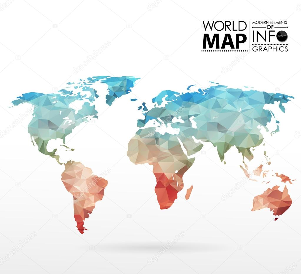World map background in polygon Stock Vector Merfin 79121660
