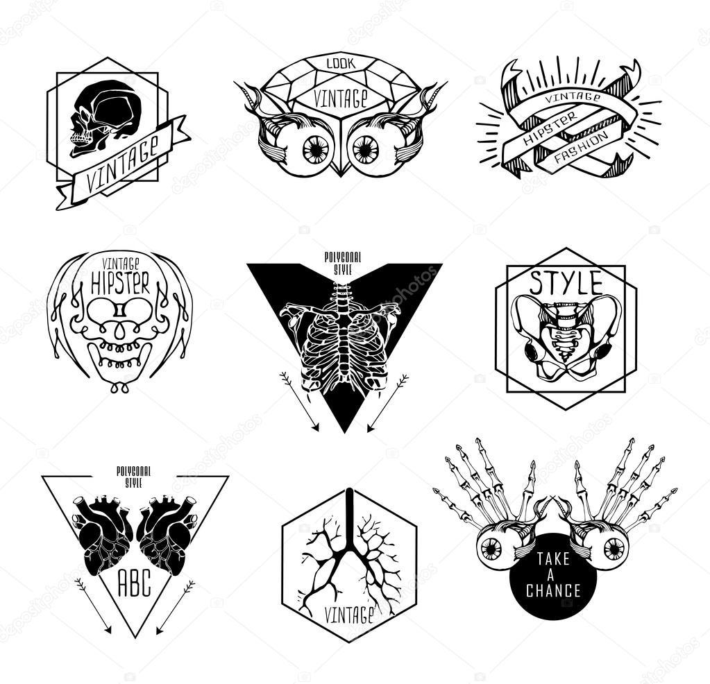 Conjunto de etiquetas con humanos — Vector de stock © Merfin #79501102