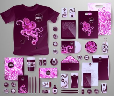 Abstract  business set. Corporate identity templates
