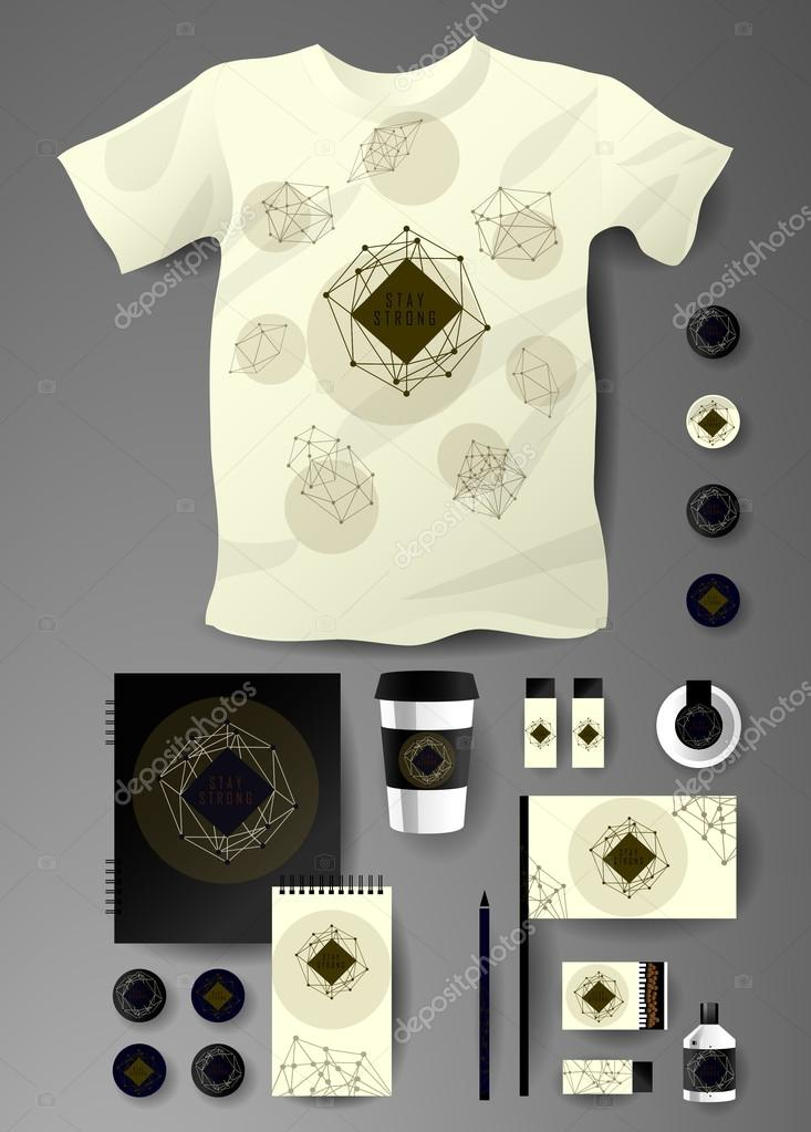 Abstract business set  Corporate identity templates cosmic