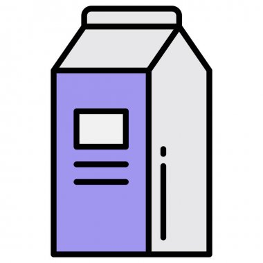 Milk Pack icon vector image. Can also be used for food and drinks. Suitable for use on web apps, mobile apps and print media. icon