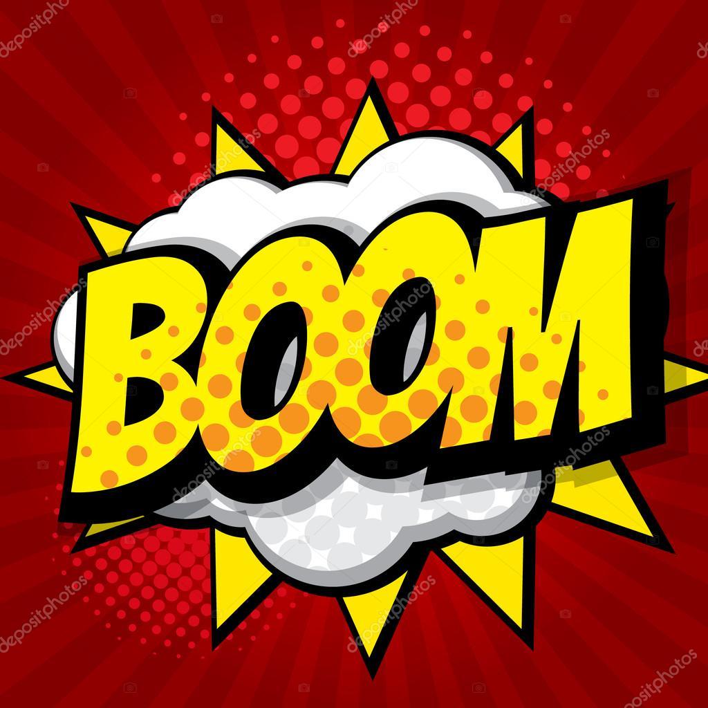 boom pop art comic book background stock vector manopjk 121656758