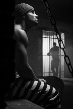 The prisoner worries about a criminal conduct being behind a lattice