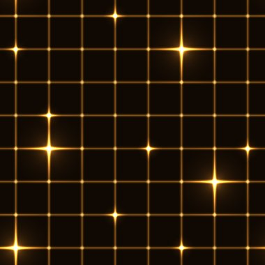 Golden grid or net with sparkle