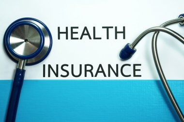 Health insurance with stethoscope