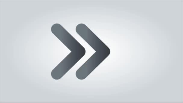 Animated arrows, upward animation with white background.