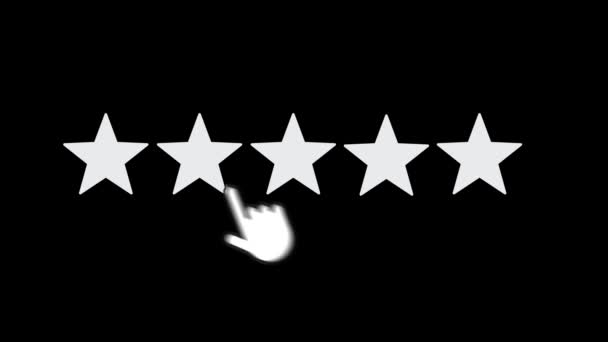 Rating Five Stars. Motion Graphics. Transparent Background.