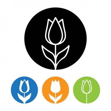 Beautiful Tulip flower icon