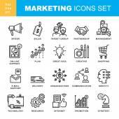 Marketingové ikony nastavit