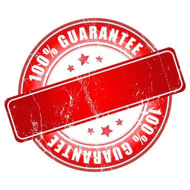 Empty Guarantee stamp. Vector illustration. clip art vector