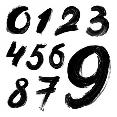 Black handwritten numbers
