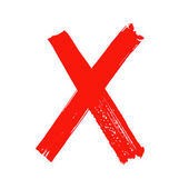 x - carta manuscrita rojo