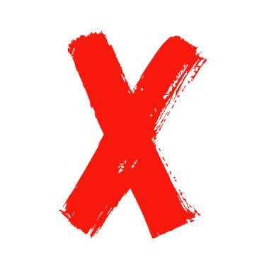 X - Red handwritten letter