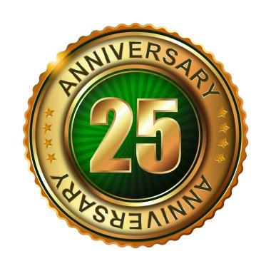 25 years anniversary golden label.