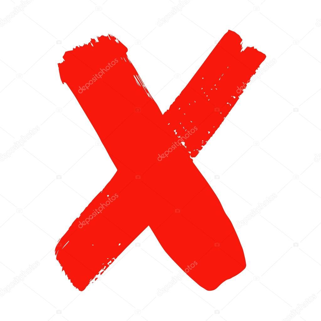 x lettre x   lettre manuscrite rouge — Image vectorielle GalaStudio © #59480935 x lettre