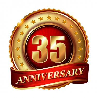 35 Anniversary golden label
