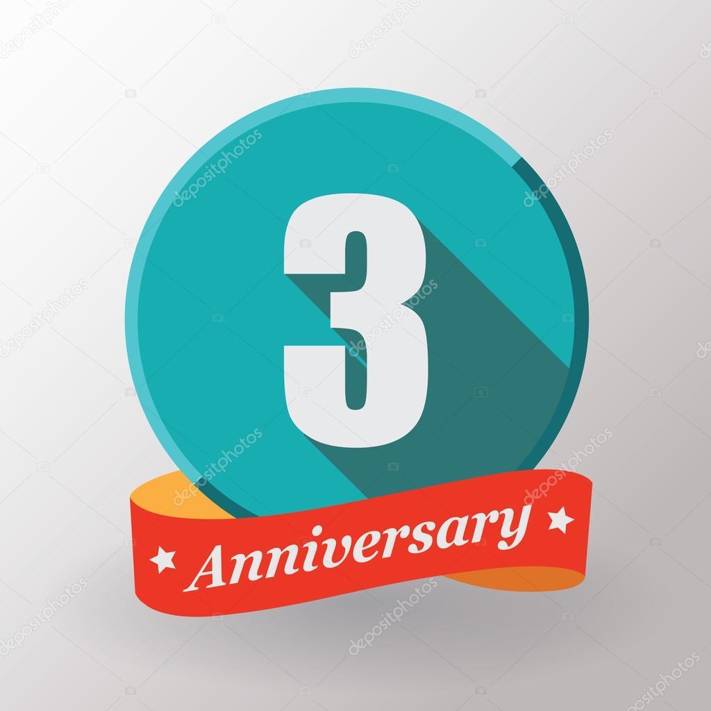 3 Verjaardag Label Met Lint Stockvector C Galastudio 61575813