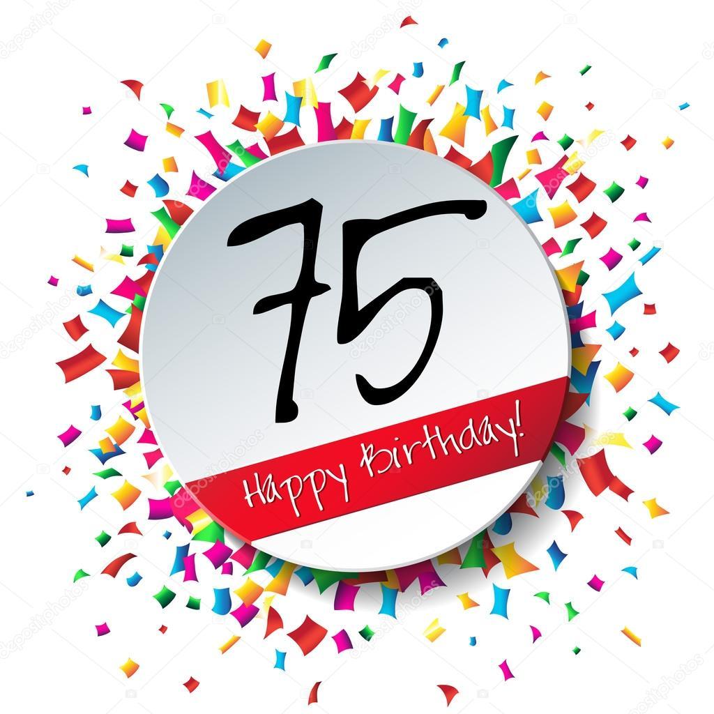 75 happy birthday achtergrond stockvector galastudio 61576907